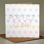 Pop, Fizz, Clink! greeting card