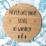 Wooden Bamboo Door / Wall hanging {Never Lose Your Sense Of Wonder}