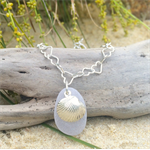 Soft Purple Sea Glass Heart Necklace