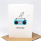 Birthday Card Girl - Turquoise Boombox - HBC222
