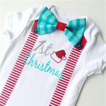 Baby Boy's First Christmas Onesie. All sizes available