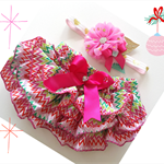 Baby Girl's First Christmas Bloomers and Headband Set