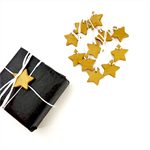 Decorative star gift tags - pack of 6
