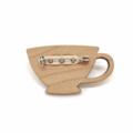 Kimono Tea Cup Brooch - Red