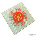 JOY LOVE PEACE HOPE Blank Christmas Card