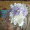 Wedding Fascinator White and Lavender Hairband Hat