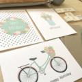 Birthday Female Card Pack - Set of 3 Cards - CP3_011 - bicycle, mason jar
