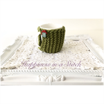 Knitted Christmas Cup/Mug Cozy/Cosy