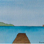 Solitary Pier - Original Watercolour Painting (Unframed)