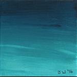 Beach Miniature 7 - Original Acrylic Painting on Canvas