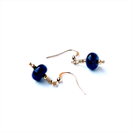 Lapis Lazuli Disc and Gold Earrings