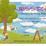 In the Park Birthday Invitations