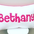 Personalised Name Pillow Cushion - Cursive Font
