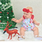 Very cute Christmas with Red Spots Flutter Sleeve Romper, baby, girl, toddler