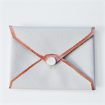 Grey & Copper envelope purse