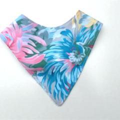 Summer floral Bandana bib
