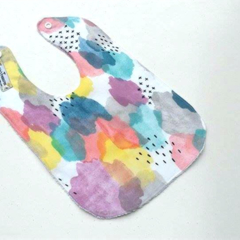 Watercolour bright splash bib
