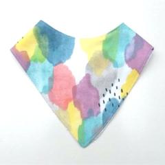 Watercolour bright splash Bandana bib
