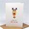 Christmas Card - Reindeer with Christmas Lights - XMS037