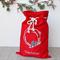 Large Personalised Santa Sack Red -  Christmas Wreath