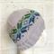 Hand-Knit, Child / Teen, Wool, Beanie Hat, Grey / Blue / Green