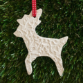 3 X CLAY CHRISTMAS  DECORATIONS STAR HEART FAIRY  GIFT  EMBOSSED