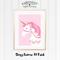 Pink Unicorn Dreaming A4 Print
