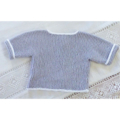 Grey/ white cotton cardigan. Size 00. Also in lemon and nectarine.