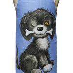 Metro Retro DOG With a BONE Vintage Tea Towel Apron. Birthday Xmas Gift