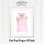 Pink Posie Parfum A4 Print