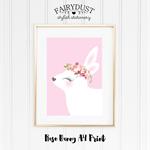 Rose Bunny A4 Print