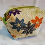 Kimono silk zip pouch