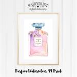 Watercolour Parfum A4 Print