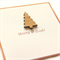 Christmas tree card bamboo merry and bright
