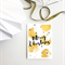 Merry Christmas Gold Dots - Christmas Greeting card