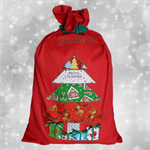 Christmas Tree Santa Sack - Personalised
