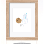 BFF's milk and cookie print