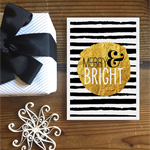 Merry & Bright Gold Dot - Christmas Greeting card