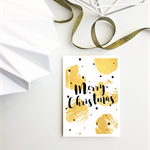 Merry Christmas Gold Dots - Christmas Greeting card