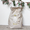Large Personalised Santa Sack -  Christmas Tree with Gold Star in Stone