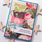 For you her friend mum daughter coffee birthday vintage blooms cups card