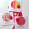 SAVE $$ SET OF 3 thank you #1 TEACHER ruler red apple pens book ruler card
