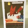 Fox in a box card