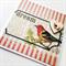 Dream bird newsprint vintage blank wood lasercut heart general friend card
