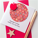 Teacher's Rule Thank you custom add name TEACHER stationery pencils card