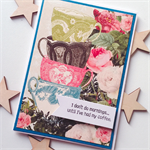 Celebrate her friend mum daughter coffee birthday vintage blooms cups card