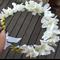 White Wedding Flower Crown, Bride, Bridesmaid, Flower Girl, Fairy Flower Crown