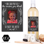 PERSONALISED TEACHER / DAY CARE / CARER / CHRISTMAS Wine Bottle Gift Label
