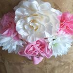 Pink Cream and White Maternity Sash, Wedding Sash, It's a Girl Maternity Sash