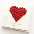 Personalised Birthday Card, Red Roses, Gift Boxed, Card For Her, For Mum